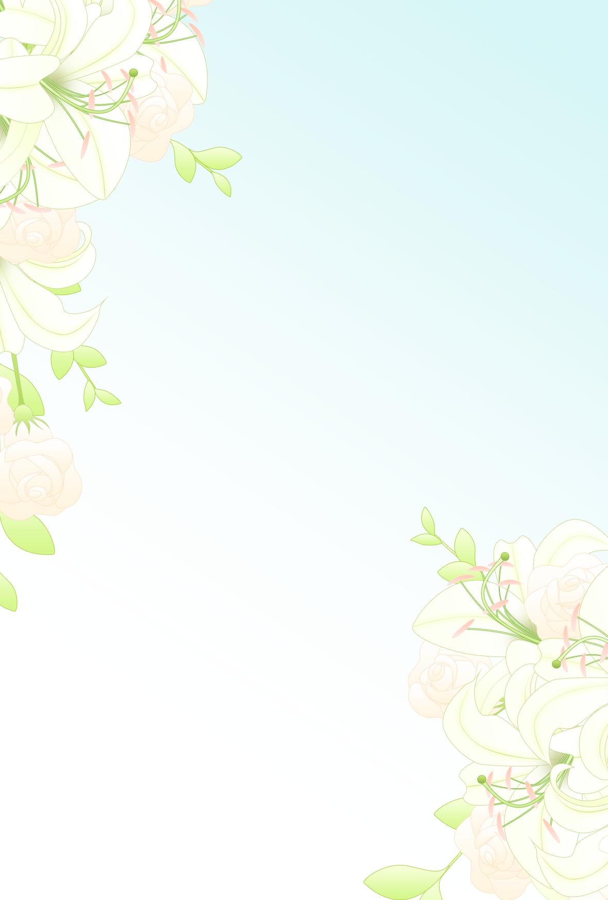 名刺 テンプレート 無料 花 柄
